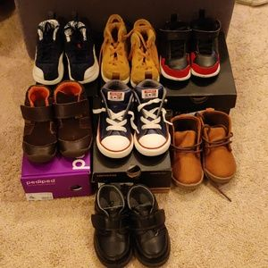 Lot of toddler boys shoes